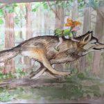 Satijntje op Rika de wolf